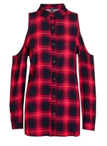 Quiz Red And Blue Check Shirt