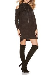 Quiz Charcoal Turtle Neck Dress