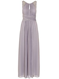 Grey Chiffon Maxi Dress