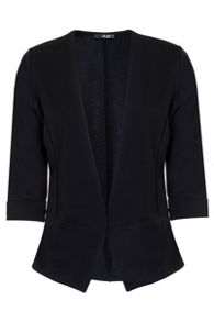 Quiz Black 3/4 Sleeve Turn Up Jacket