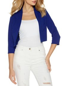 Quiz Blue Cropped 3/4 Sleeve Jacket