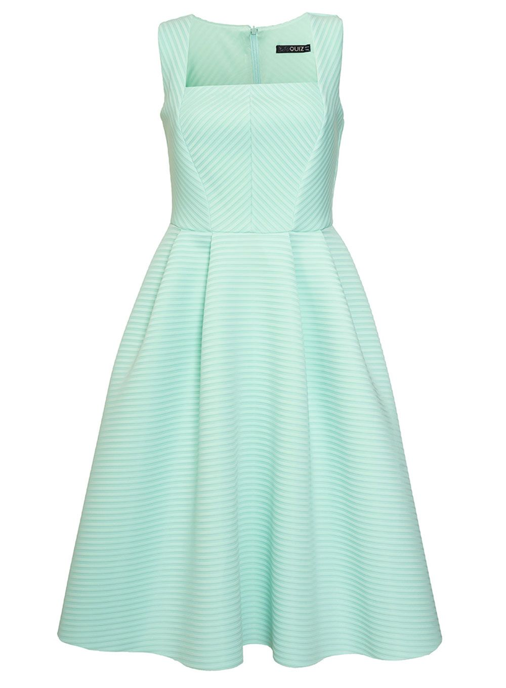 Quiz Mint Stripe Textured Midi Dress, Mint