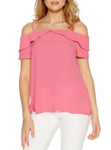 Quiz Pink Cold Shoulder Swing Top