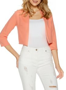 Quiz Coral Cropped 3/4 Sleeve Jacket