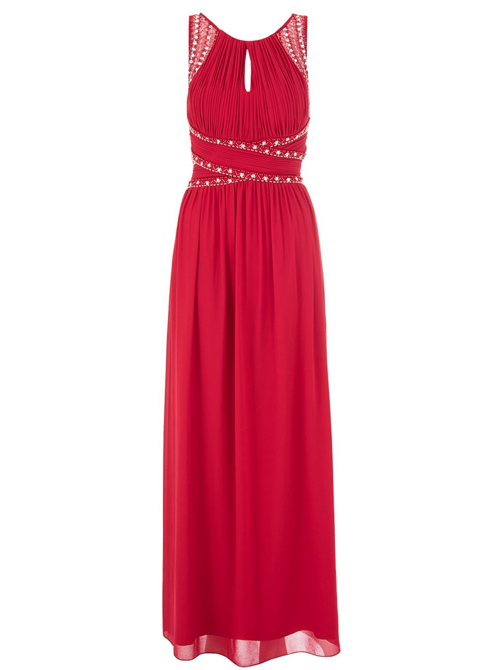 Quiz Berry Chiffon Maxi Dress, Berry