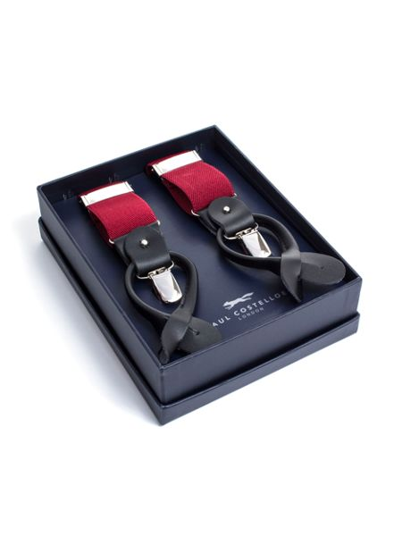 Paul Costelloe Plain red braces