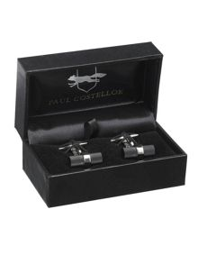 Blk barrel cufflin