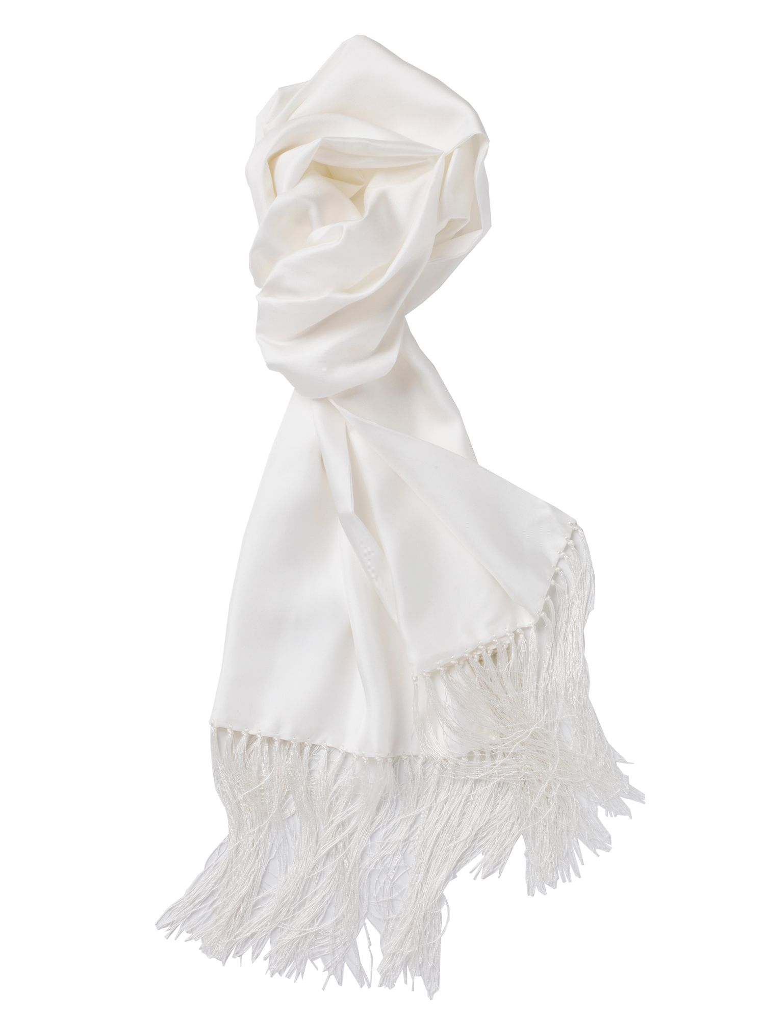 White dress scarf