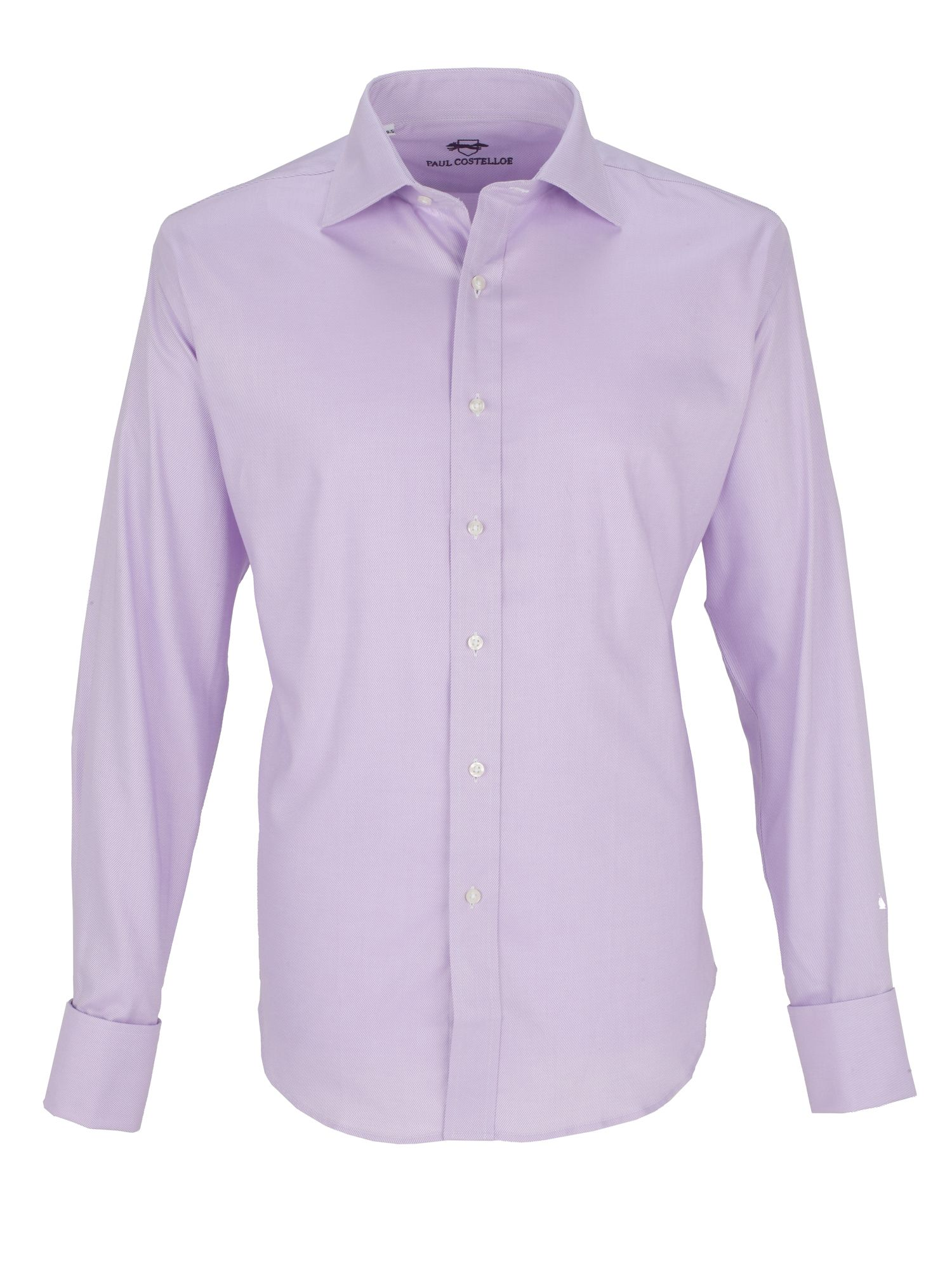 Lilac twill double cuff shirt
