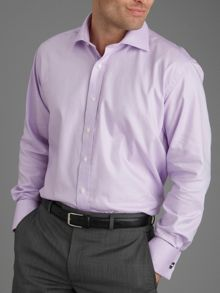 Paul Costelloe Lilac twill double cuff shirt