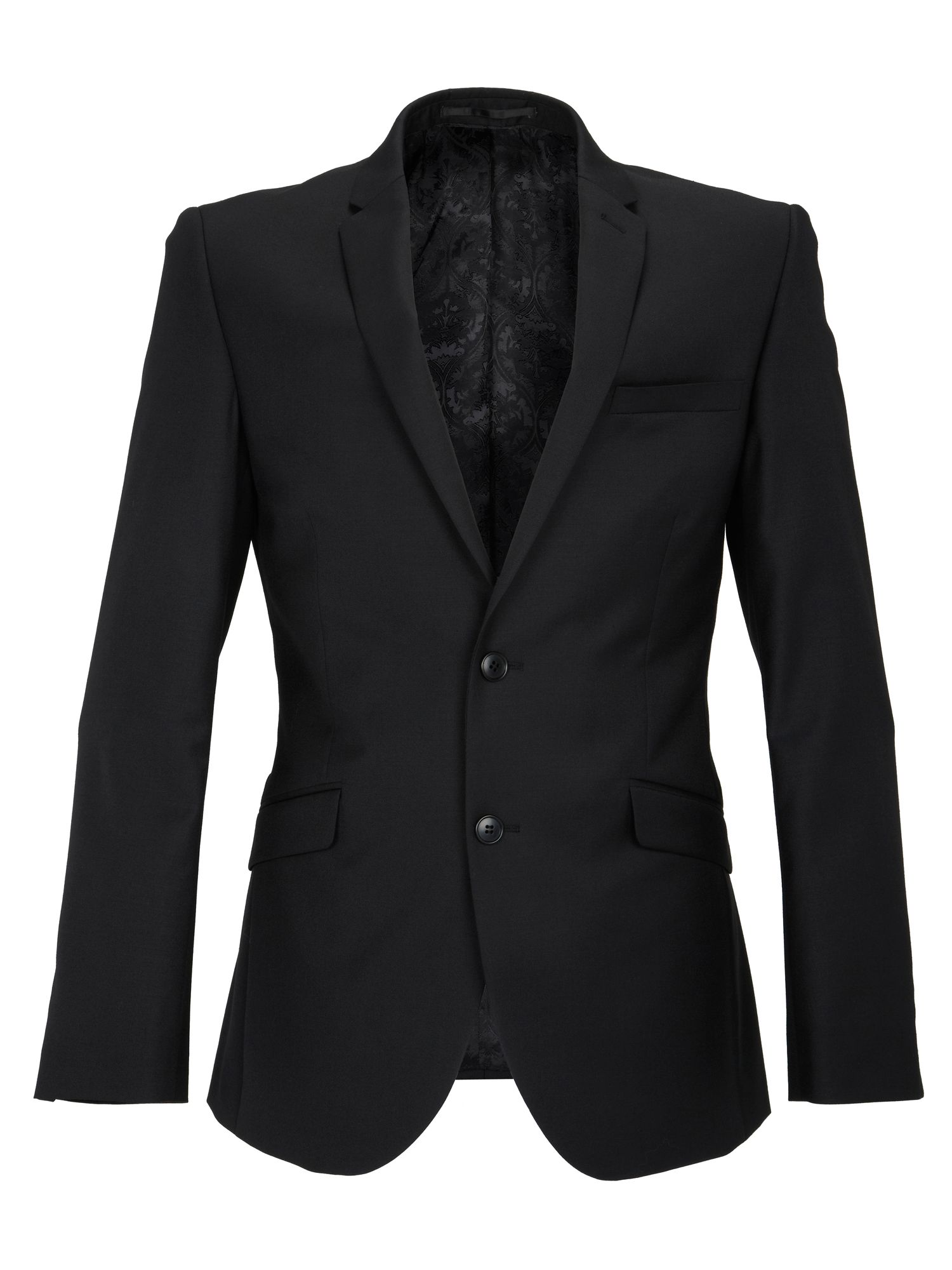 Plain Black Slimfit Jacket