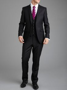 Plain Black Slim Fit Suit Jacket