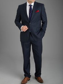 Paul Costelloe Modern Fit Navy Birdseye Suit Jacket