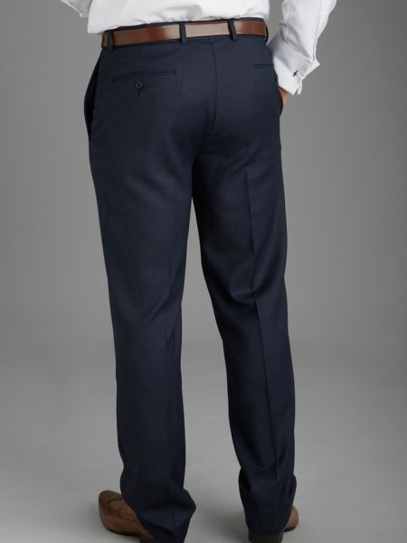 Paul Costelloe Modern Fit Navy Birdseye Suit Trousers