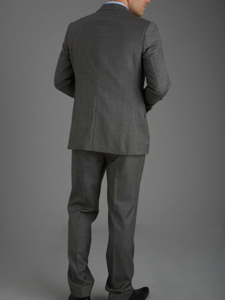 Paul Costelloe Modern Fit Grey Hopsack Suit Jacket