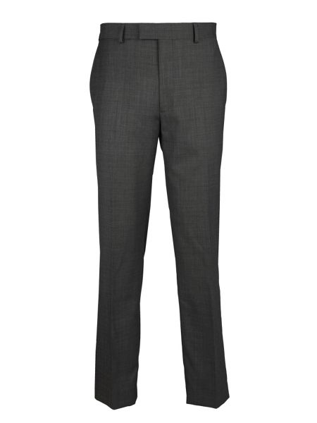 Paul Costelloe Modern Fit Grey Hopsack Suit Trousers