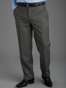 Castlemaine Grey Hopsack Suit Trousers