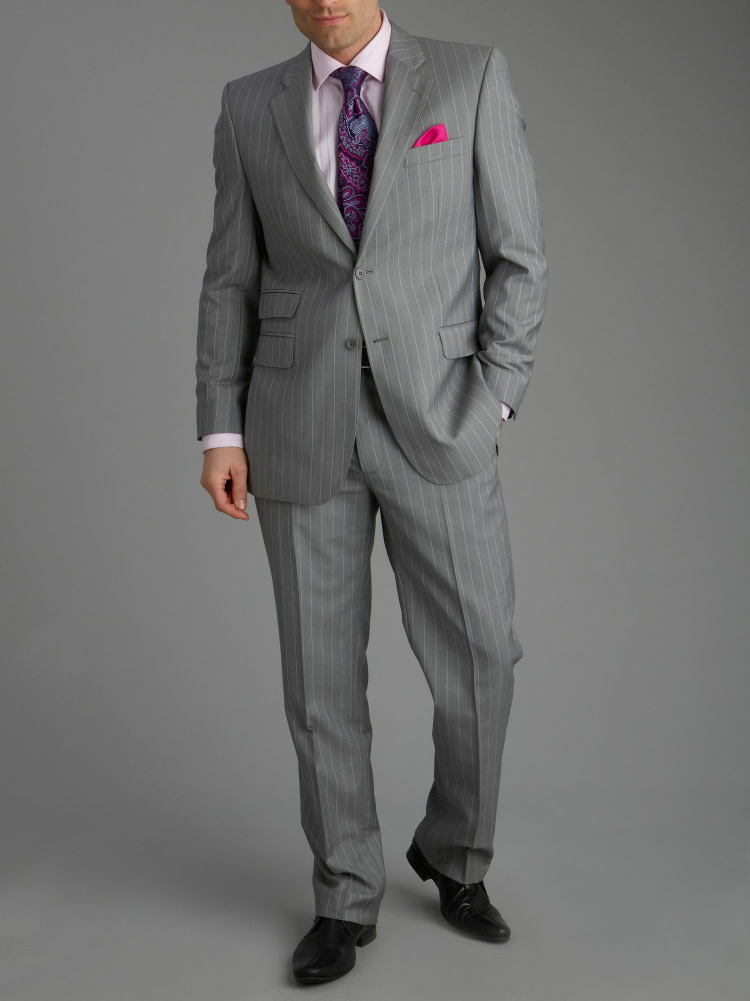 Cappoquin grey wide stripe suit