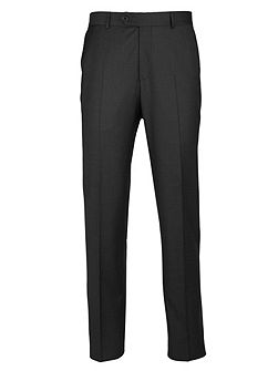 Tailored Grey Twill Suit Trousers
