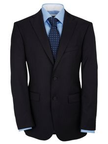 Tailored Navy Twill Suit Jacket