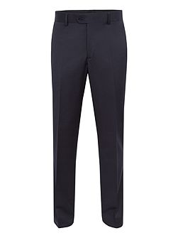Tailored Navy Twill Suit Trousers