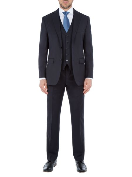 Baumler Tailored Navy Twill Suit Trousers