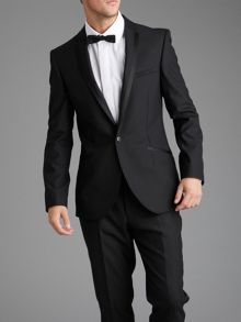 Black slimfit dinner jacket