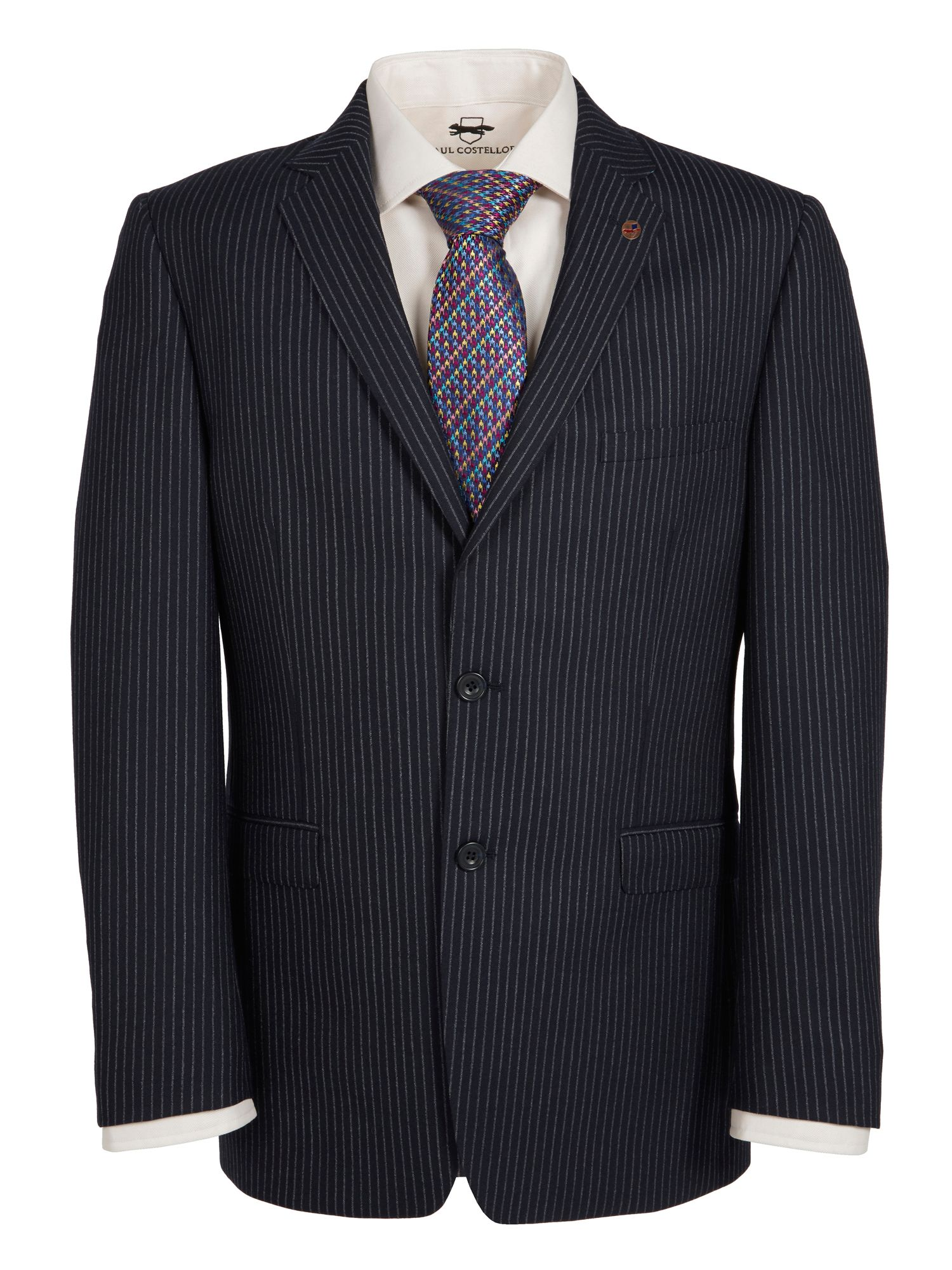 Navy Pinstripe Jacket