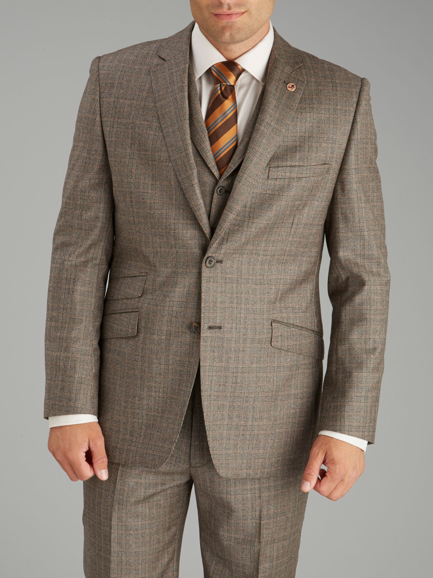 Light brown check jacket