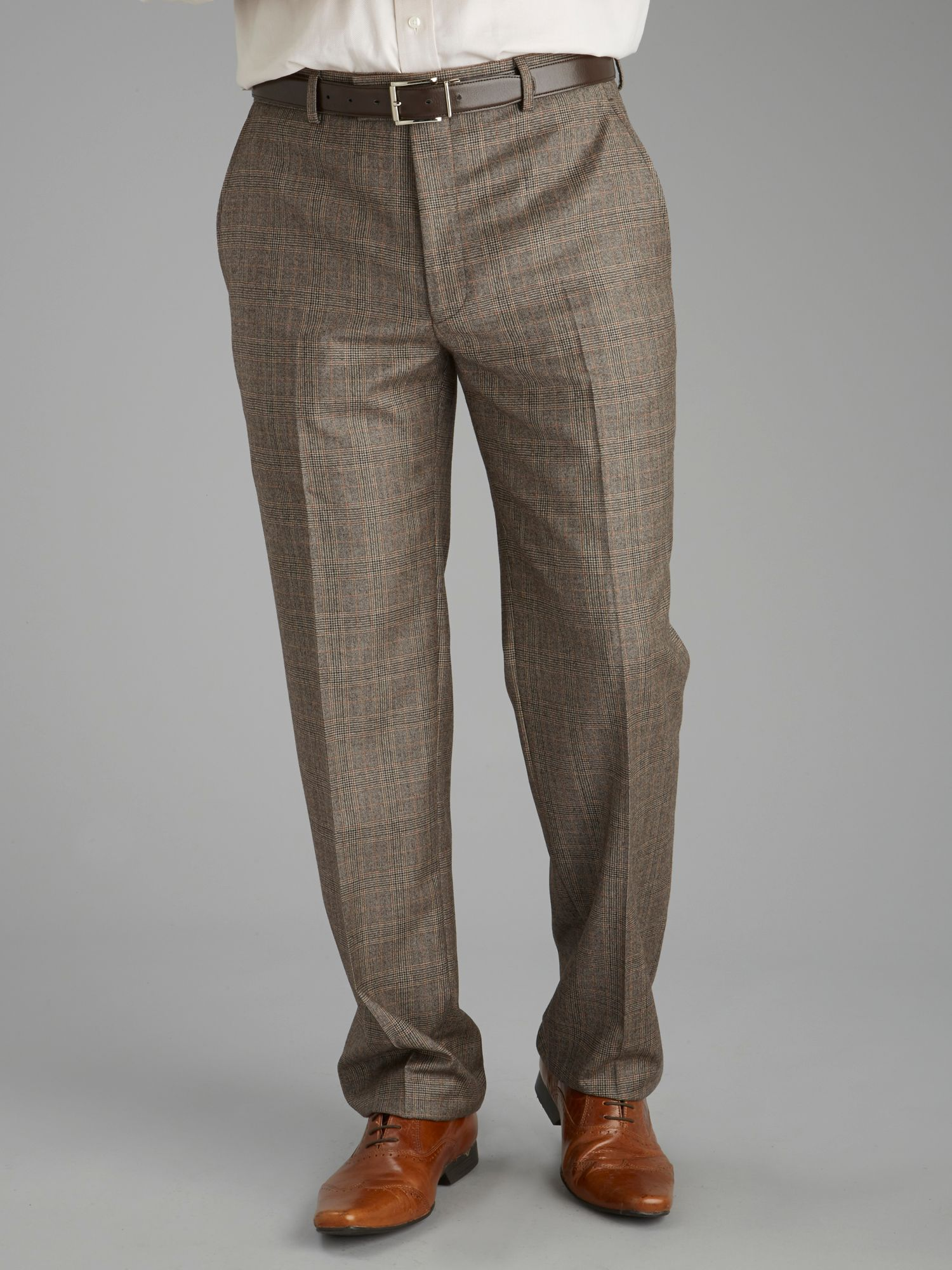 Light brown check trousers