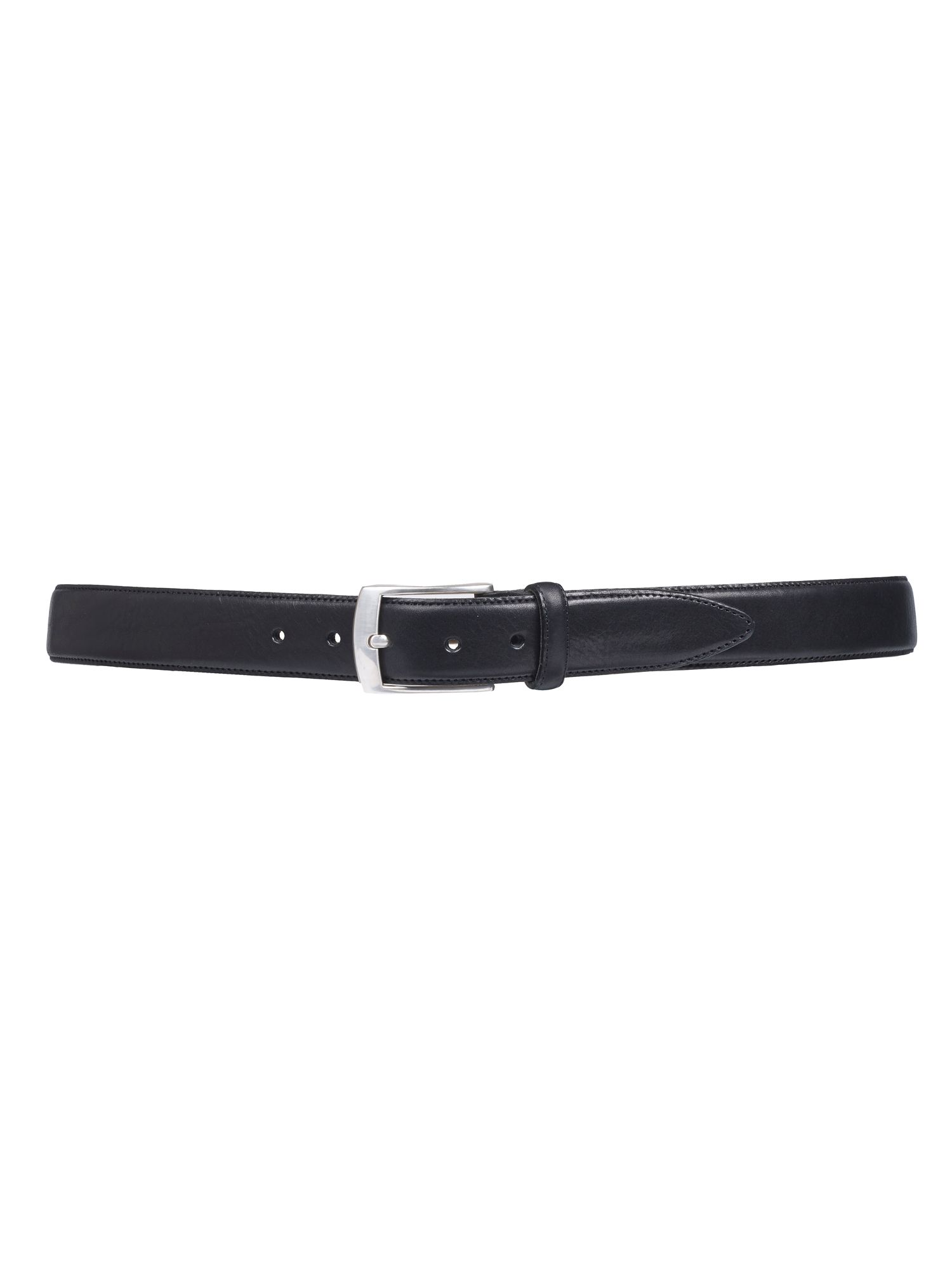 Plain Black Full Grain Leather Belt