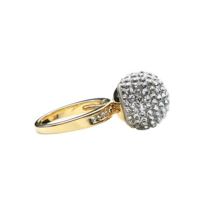 Mikey Single stone cluster ring