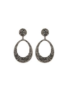 Oval design earrings