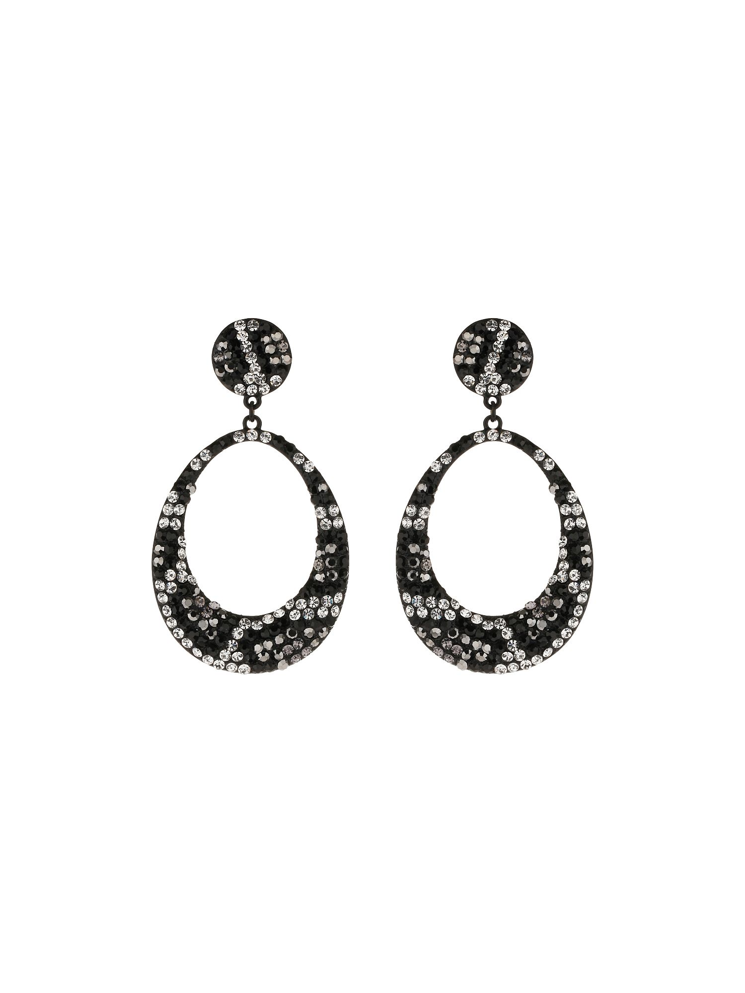 Oval Design Earring Leopard