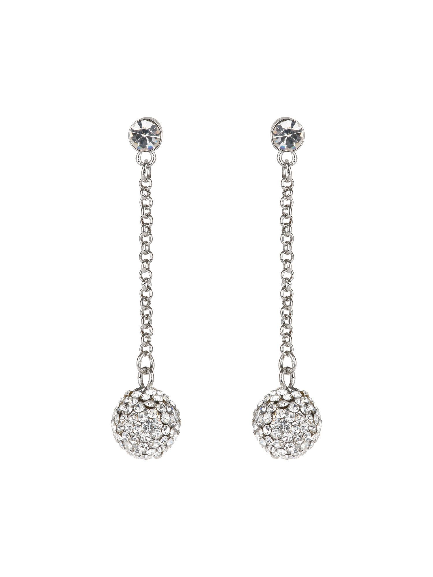 Crystal Long Drop Earring