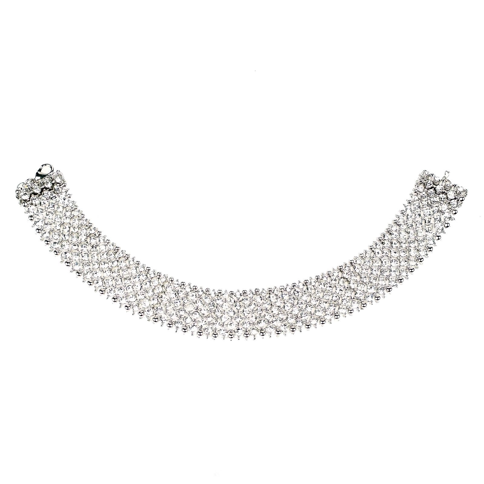mikey crystal band choker