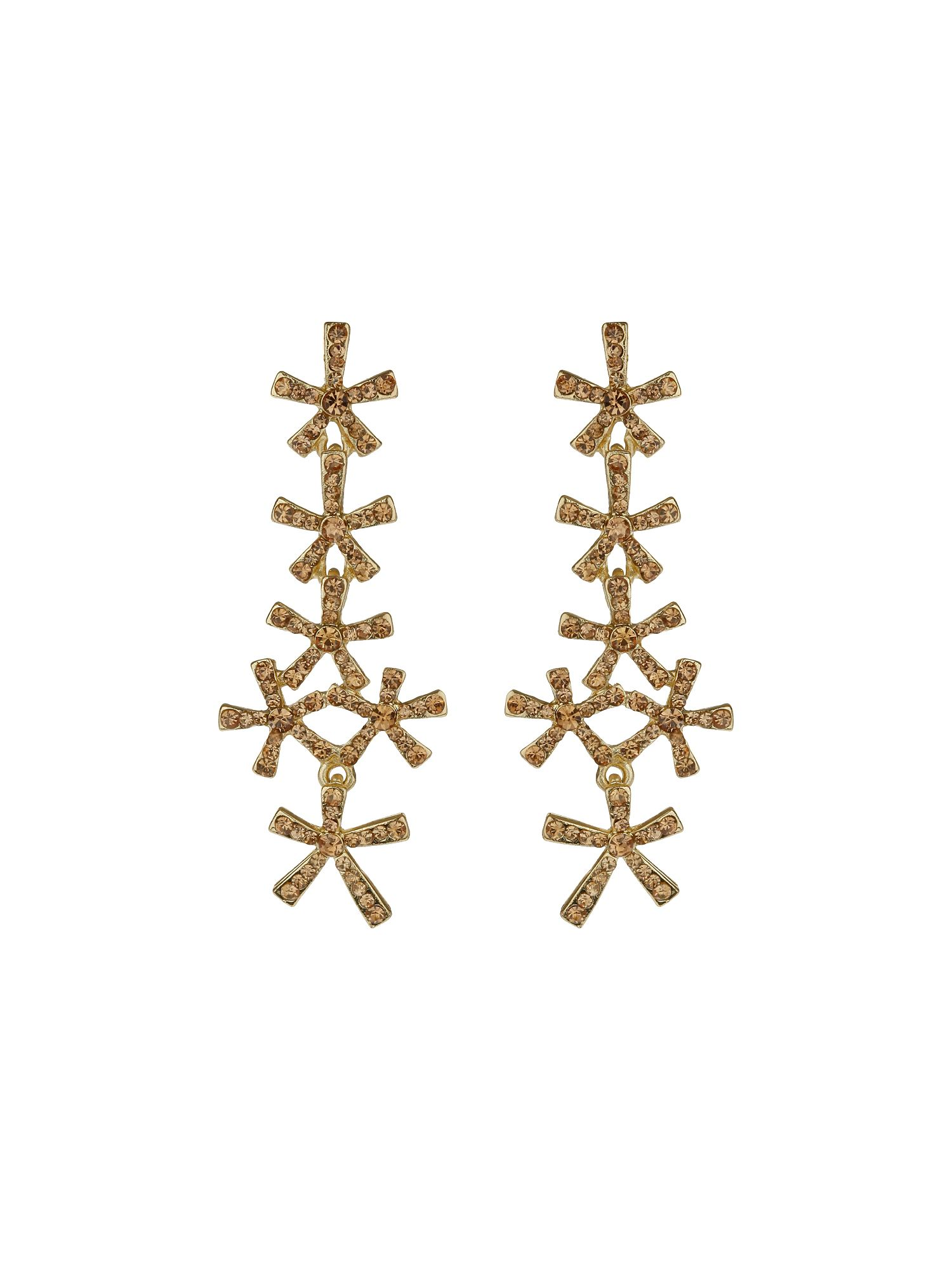 Twist cross earrings