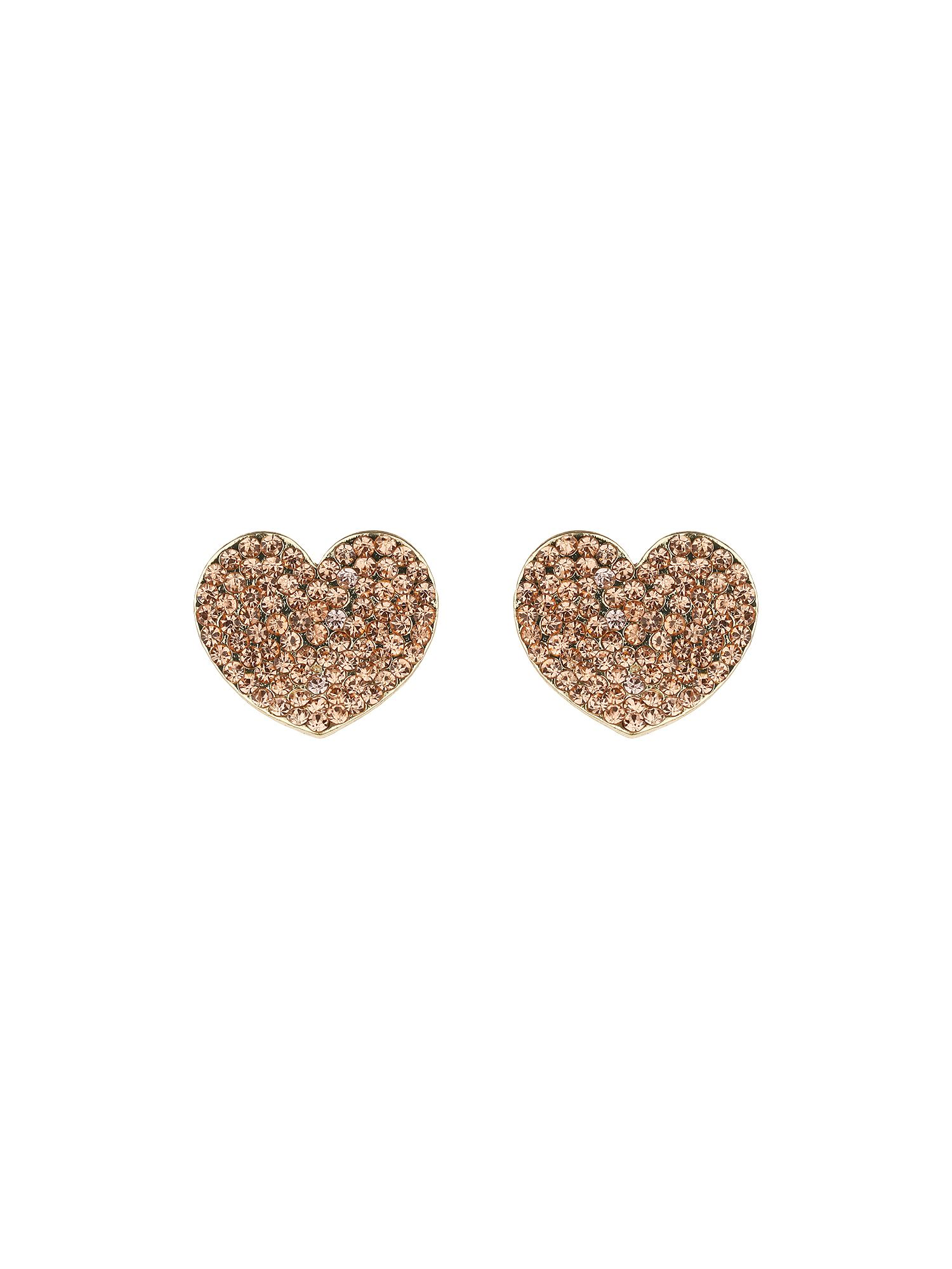 Flat heart earrings