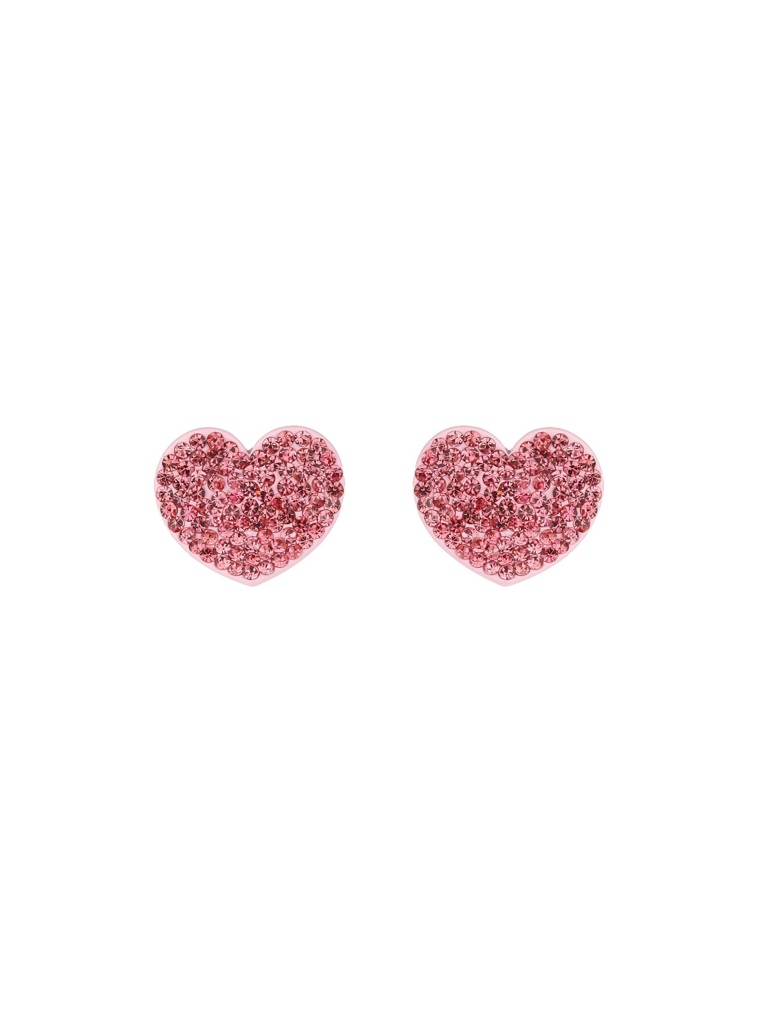mikey flat heart earrings