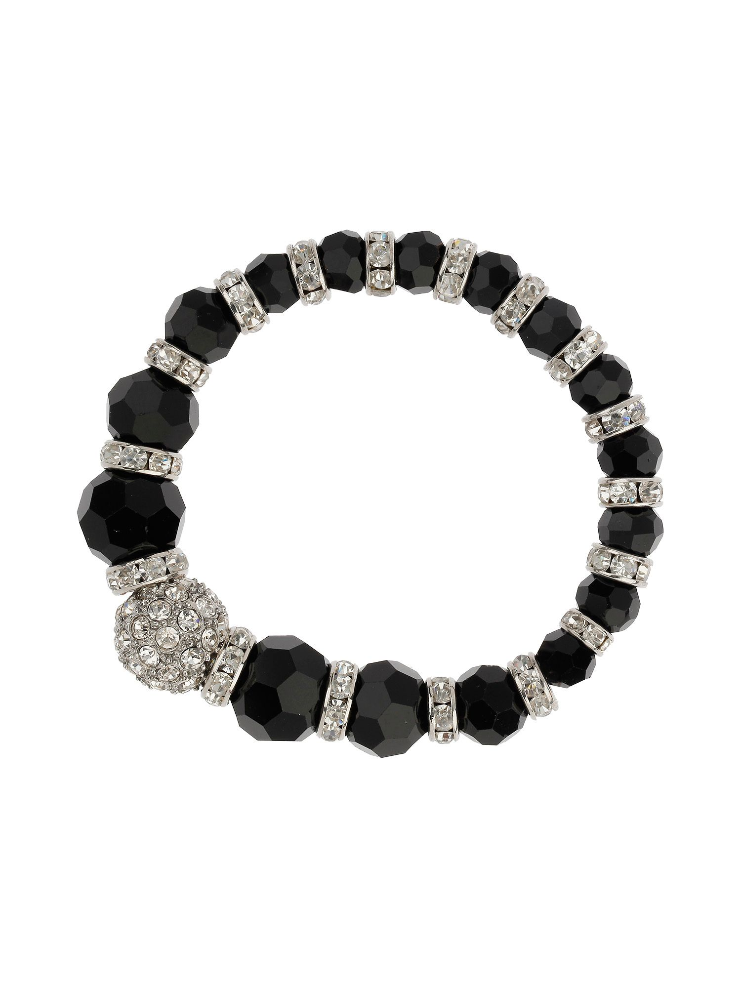 Large crystal ball bracelet