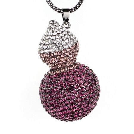 Mikey Twin crystal pendant
