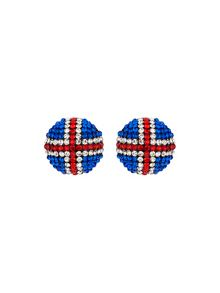Mikey Round British Flag 20mm