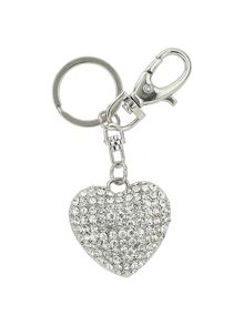 Mikey Small Heart Crystal Key Chain