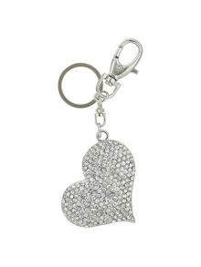 Mikey Large Heart Crystal Keychain