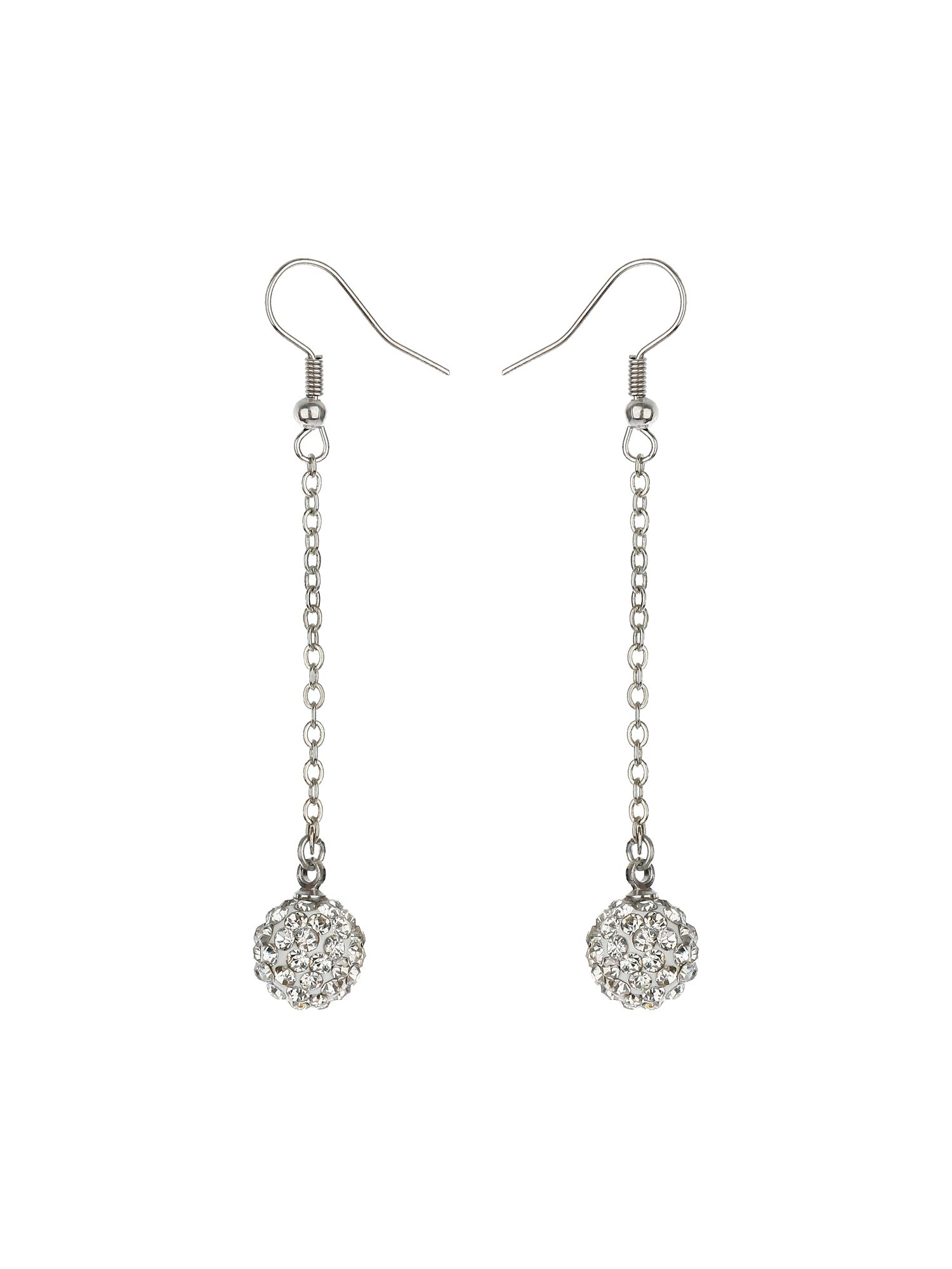10mm crystal drop earringss