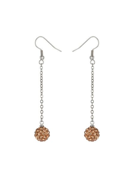 Mikey 10mm crystal drop earring