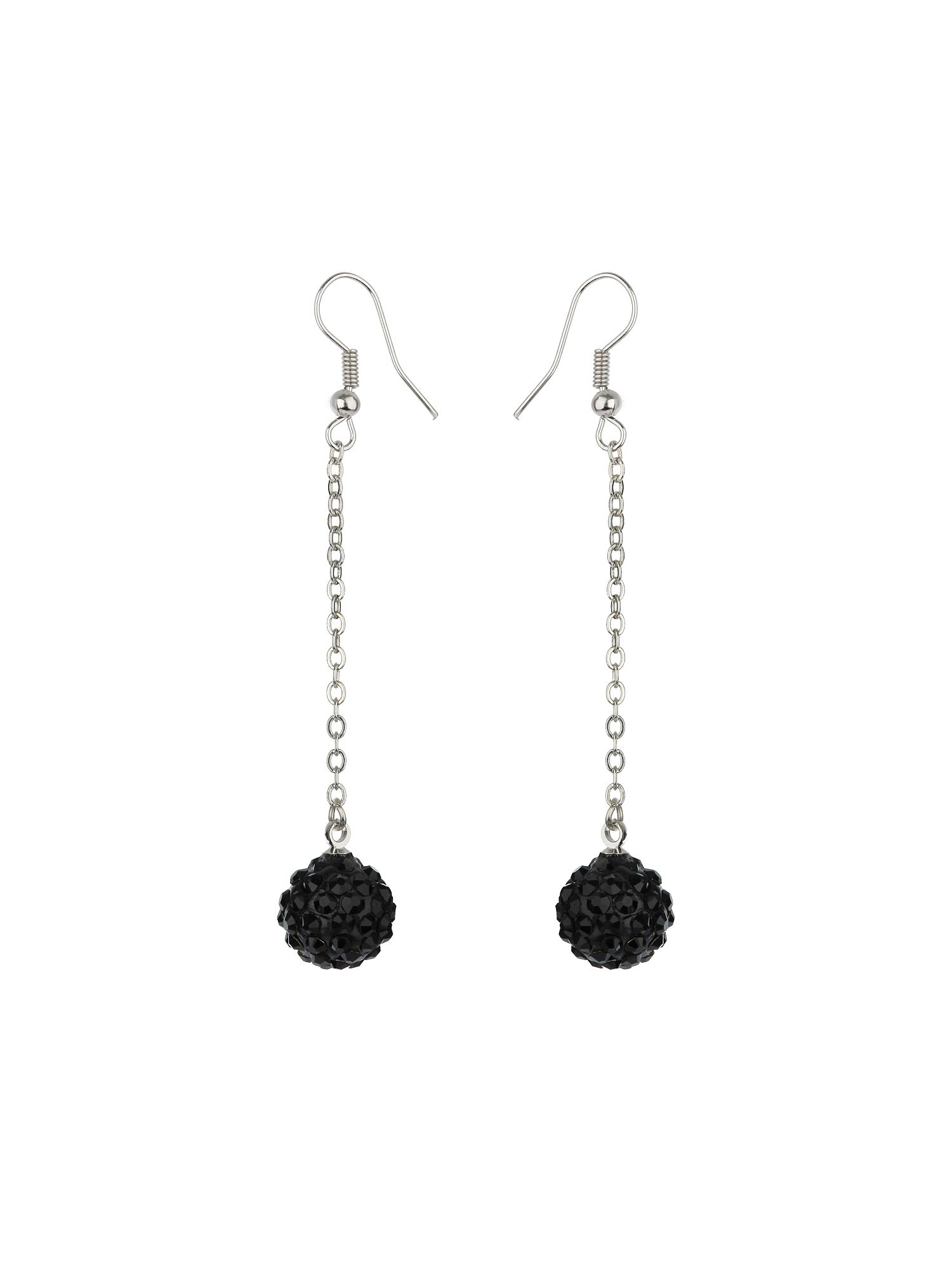 12mm crystal drop earrings