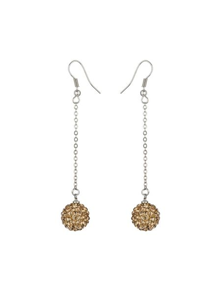 Mikey 12mm crystal drop earrings