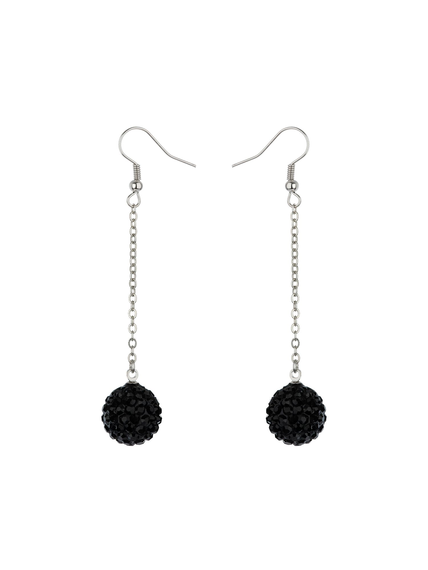 14mm crystal drop earrings