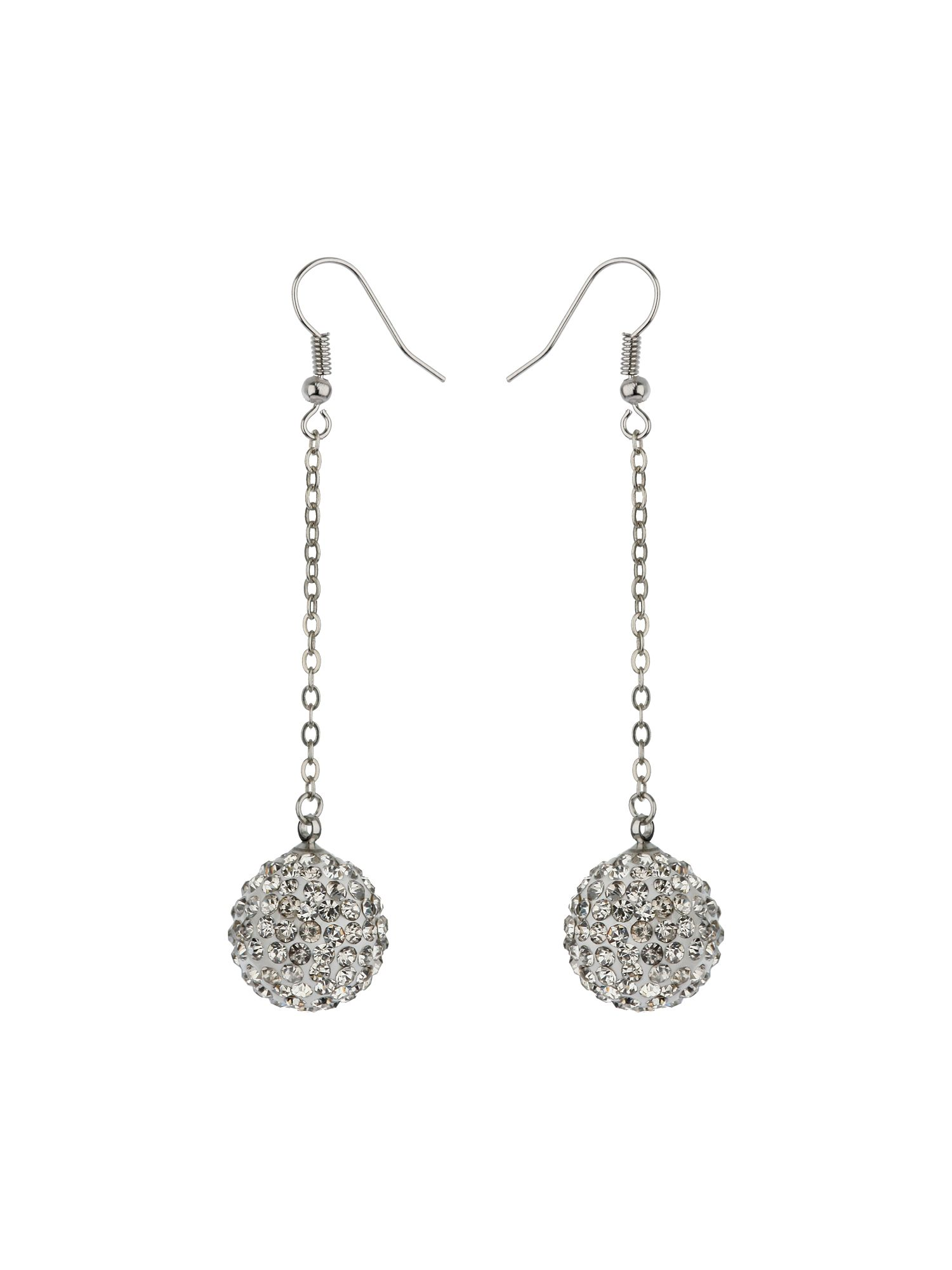 16mm crystal drop earrings